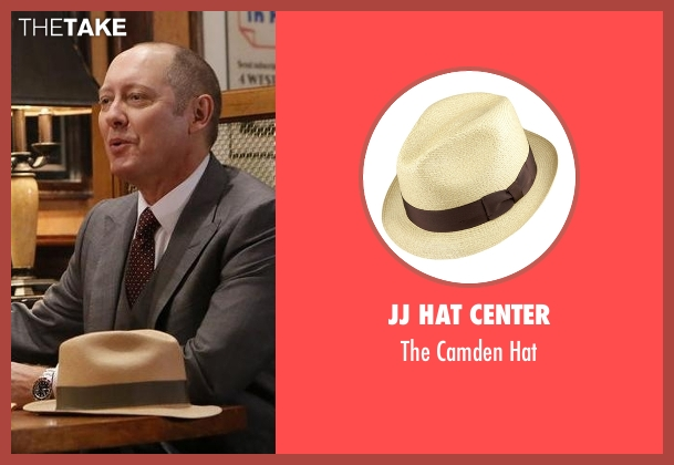 JJ Hat Center beige hat from The Blacklist seen with Raymond 'Red' Reddington (James Spader)