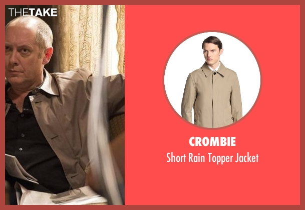 Crombie beige jacket from The Blacklist seen with Raymond 'Red' Reddington (James Spader)