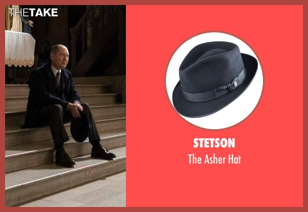 Stetson black hat from The Blacklist seen with Raymond 'Red' Reddington (James Spader)