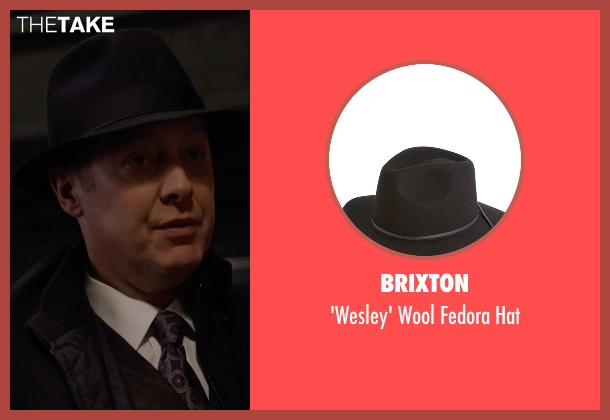Brixton black hat from The Blacklist seen with Raymond 'Red' Reddington (James Spader)