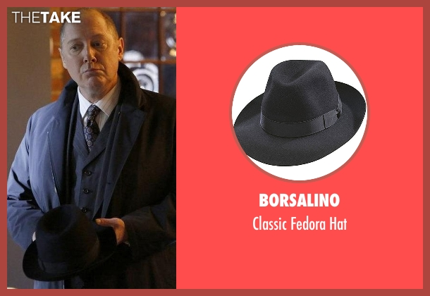 Borsalino black hat from The Blacklist seen with Raymond 'Red' Reddington (James Spader)