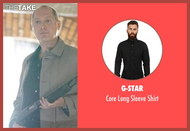 G-Star black shirt from The Blacklist seen with Raymond 'Red' Reddington (James Spader)