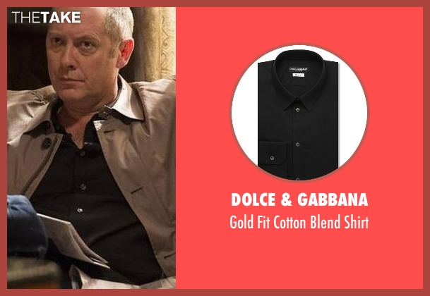 Dolce & Gabbana black shirt from The Blacklist seen with Raymond 'Red' Reddington (James Spader)