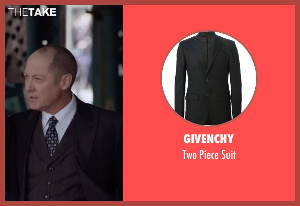 Givenchy black suit from The Blacklist seen with Raymond 'Red' Reddington (James Spader)