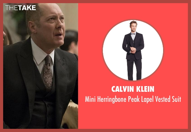 Calvin Klein black suit from The Blacklist seen with Raymond 'Red' Reddington (James Spader)