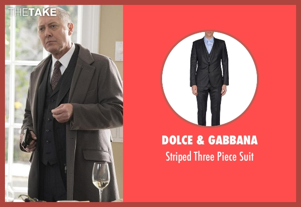 Dolce & Gabbana black suit from The Blacklist seen with Raymond 'Red' Reddington (James Spader)
