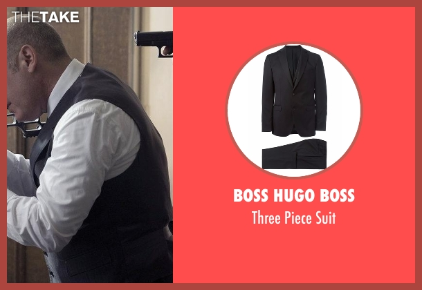 Boss Hugo Boss black suit from The Blacklist seen with Raymond 'Red' Reddington (James Spader)