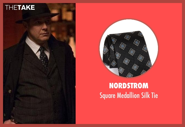 Nordstrom black tie from The Blacklist seen with Raymond 'Red' Reddington (James Spader)