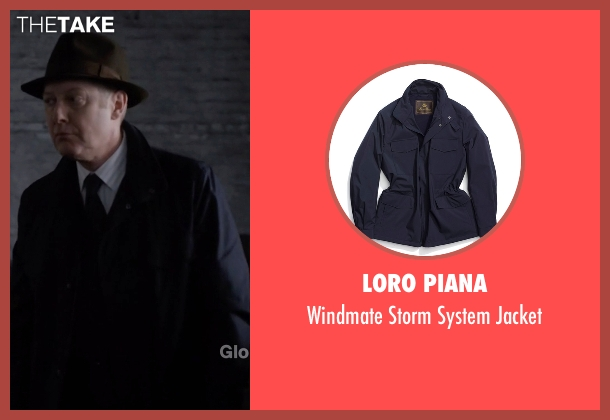 Loro Piana blue jacket from The Blacklist seen with Raymond 'Red' Reddington (James Spader)