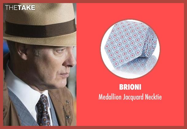 Brioni blue necktie from The Blacklist seen with Raymond 'Red' Reddington (James Spader)