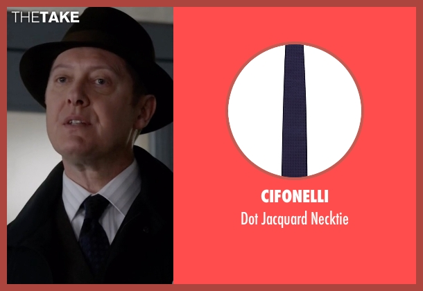 Cifonelli blue necktie from The Blacklist seen with Raymond 'Red' Reddington (James Spader)
