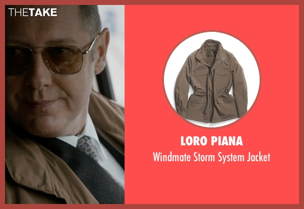 Loro Piana brown jacket from The Blacklist seen with Raymond 'Red' Reddington (James Spader)