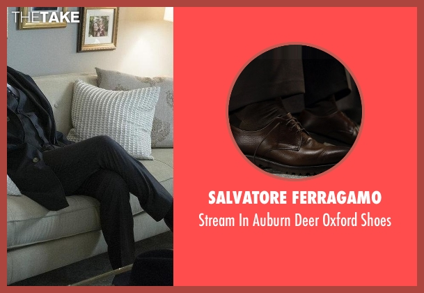 Salvatore Ferragamo brown shoes from The Blacklist seen with Raymond 'Red' Reddington (James Spader)