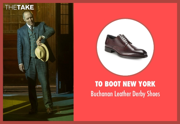 To Boot New York brown shoes from The Blacklist seen with Raymond 'Red' Reddington (James Spader)
