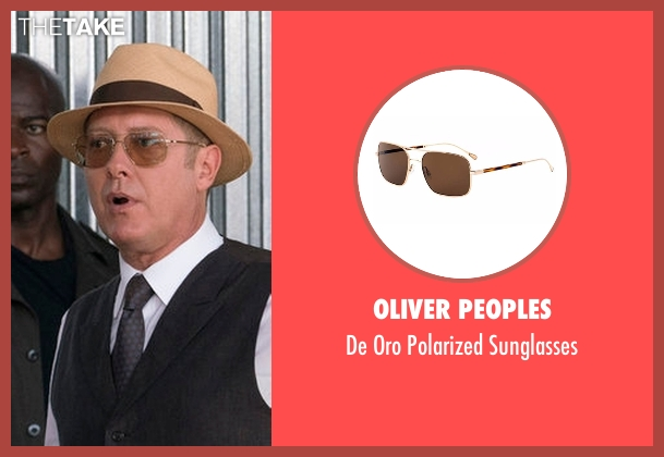 Oliver Peoples brown sunglasses from The Blacklist seen with Raymond 'Red' Reddington (James Spader)
