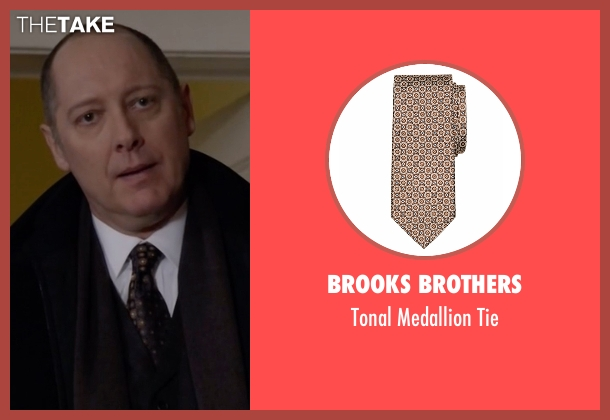 Brooks Brothers brown tie from The Blacklist seen with Raymond 'Red' Reddington (James Spader)
