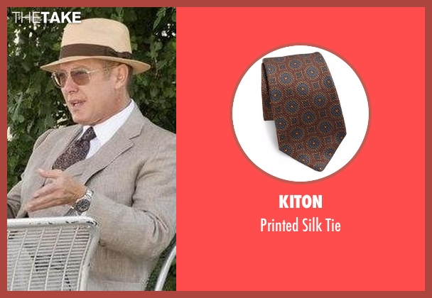 Kiton brown tie from The Blacklist seen with Raymond 'Red' Reddington (James Spader)