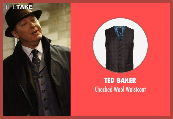 Ted Baker brown waistcoat from The Blacklist seen with Raymond 'Red' Reddington (James Spader)