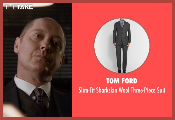 Tom Ford gray suit from The Blacklist seen with Raymond 'Red' Reddington (James Spader)