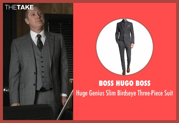 Boss Hugo Boss gray suit from The Blacklist seen with Raymond 'Red' Reddington (James Spader)