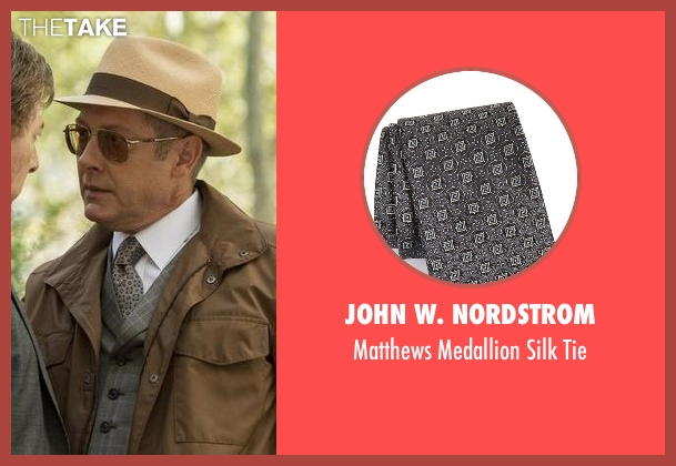 John W. Nordstrom gray tie from The Blacklist seen with Raymond 'Red' Reddington (James Spader)