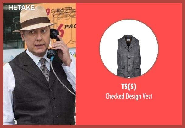 TS(S) gray vest from The Blacklist seen with Raymond 'Red' Reddington (James Spader)