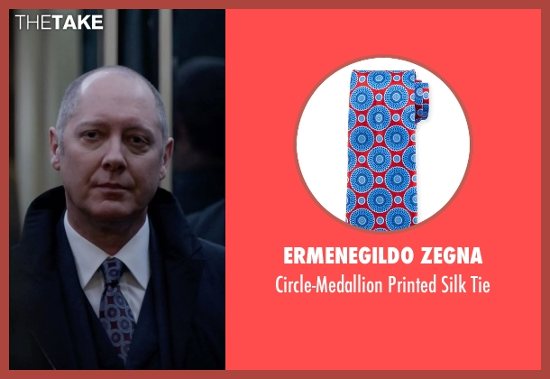 Ermenegildo Zegna red tie from The Blacklist seen with Raymond 'Red' Reddington (James Spader)