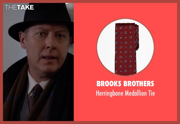 Brooks Brothers red tie from The Blacklist seen with Raymond 'Red' Reddington (James Spader)