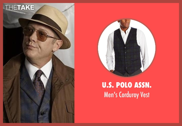 U.S. Polo Assn. vest from The Blacklist seen with Raymond 'Red' Reddington (James Spader)