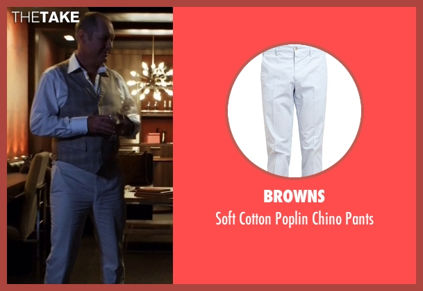 Browns white pants from The Blacklist seen with Raymond 'Red' Reddington (James Spader)