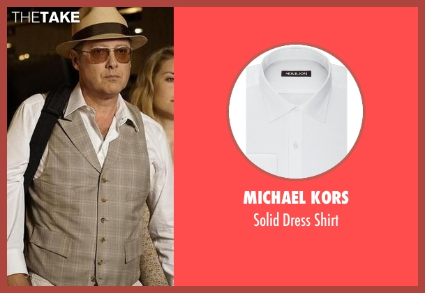 Michael Kors white shirt from The Blacklist seen with Raymond 'Red' Reddington (James Spader)