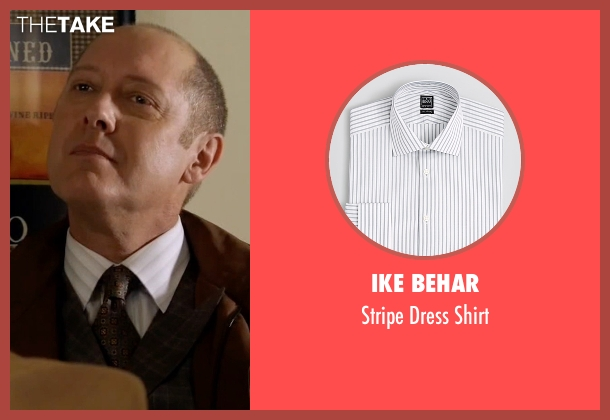 Ike Behar white shirt from The Blacklist seen with Raymond 'Red' Reddington (James Spader)