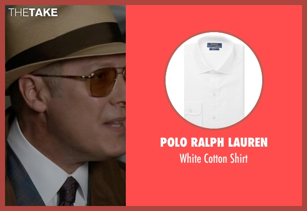 Polo Ralph Lauren white shirt from The Blacklist seen with Raymond 'Red' Reddington (James Spader)