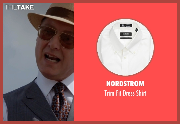 Nordstrom white shirt from The Blacklist seen with Raymond 'Red' Reddington (James Spader)