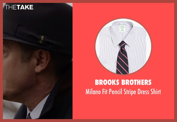 Brooks Brothers white shirt from The Blacklist seen with Raymond 'Red' Reddington (James Spader)