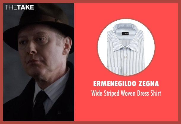 Ermenegildo Zegna white shirt from The Blacklist seen with Raymond 'Red' Reddington (James Spader)