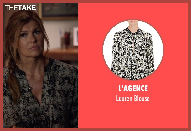 L'agence black blouse from Nashville seen with Rayna Jaymes  (Connie Britton)
