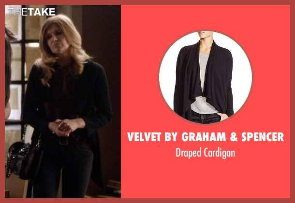 Velvet By Graham & Spencer black cardigan from Nashville seen with Rayna Jaymes  (Connie Britton)