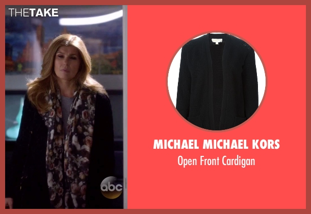 Michael Michael Kors black cardigan from Nashville seen with Rayna Jaymes  (Connie Britton)