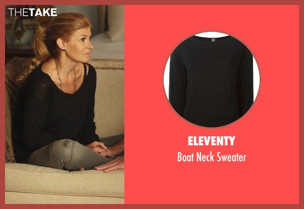 Eleventy black sweater from Nashville seen with Rayna Jaymes  (Connie Britton)