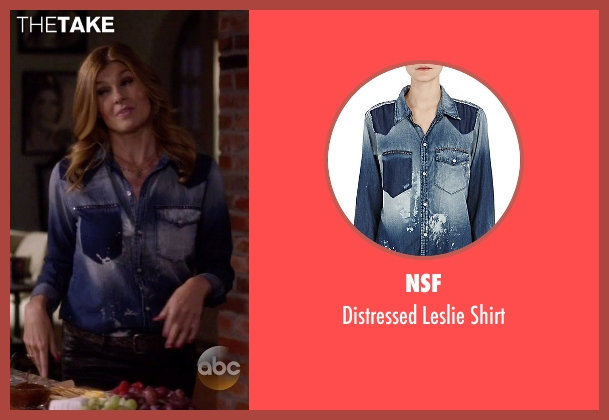 NSF blue shirt from Nashville seen with Rayna Jaymes  (Connie Britton)