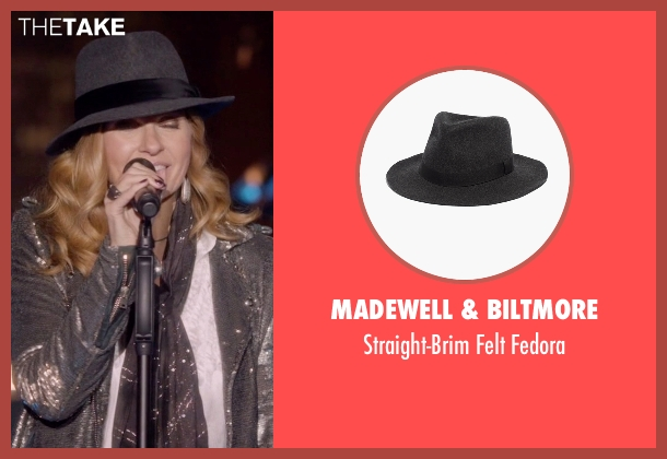 Madewell & Biltmore gray fedora from Nashville seen with Rayna Jaymes  (Connie Britton)
