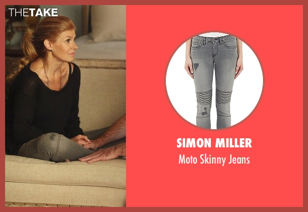 Simon Miller gray jeans from Nashville seen with Rayna Jaymes  (Connie Britton)