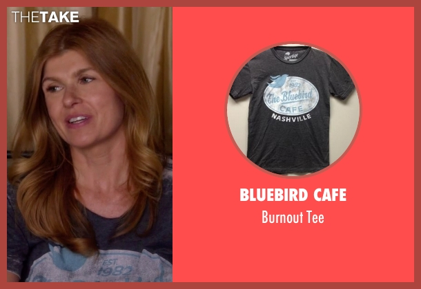 Bluebird Cafe gray tee from Nashville seen with Rayna Jaymes  (Connie Britton)