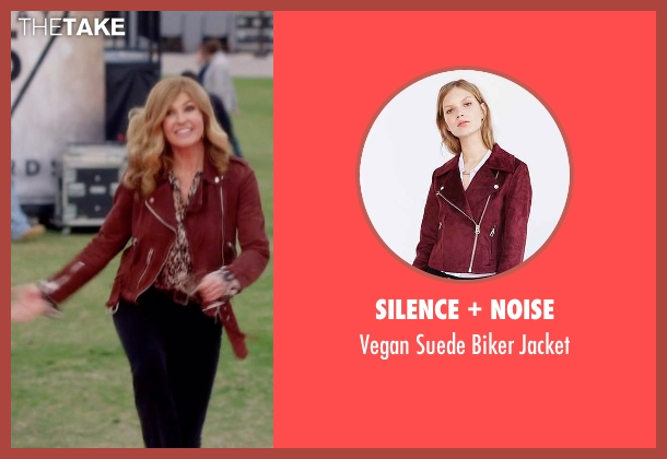 Silence + Noise red biker jacket from Nashville seen with Rayna Jaymes  (Connie Britton)