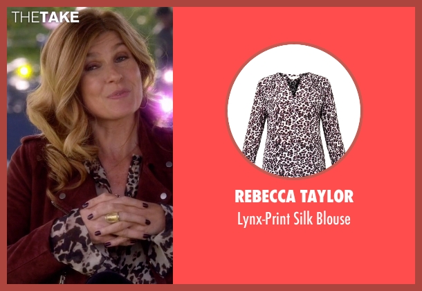 Rebecca Taylor red blouse from Nashville seen with Rayna Jaymes  (Connie Britton)