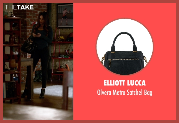 Elliott Lucca black bag from New Girl seen with Reagan (Megan Fox)