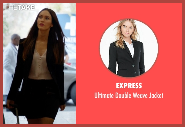 Express black jacket from New Girl seen with Reagan (Megan Fox)
