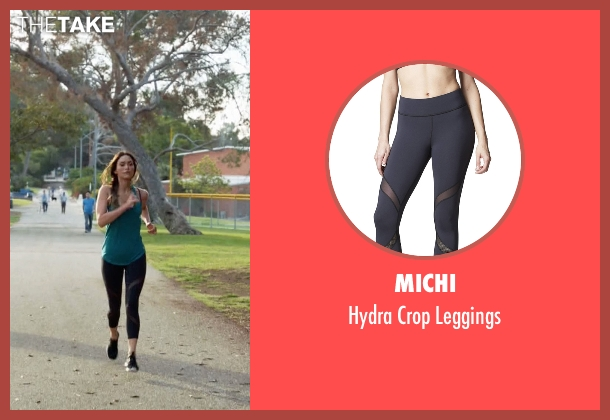 Michi black leggings from New Girl seen with Reagan (Megan Fox)