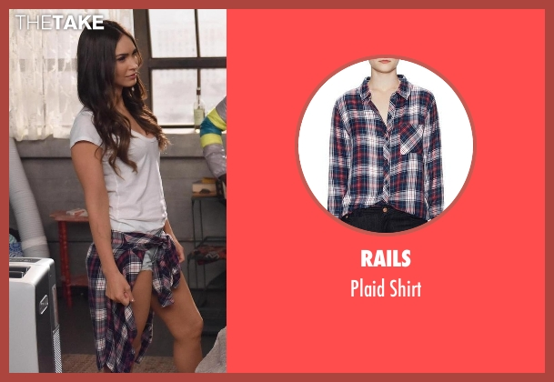 Rails black shirt from New Girl seen with Reagan (Megan Fox)